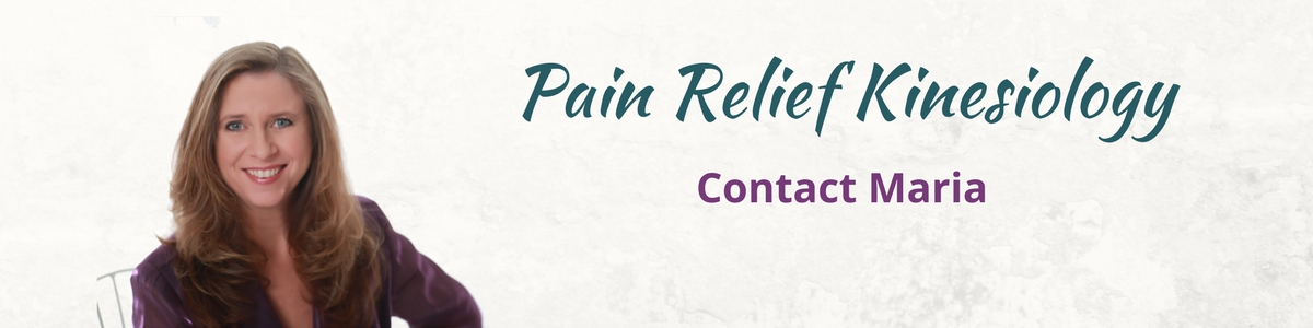 Pain Relief Kinesiology Contact Maria Header