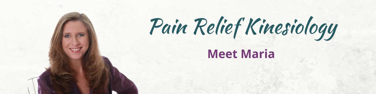 Pain Relief Kinesiology Meet Maria Header